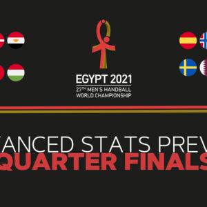 A look at the numbers of the Quarter Finals of the Handball World Championship 2021