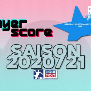 PlayerScore und HPI in der HBL in der Saison 2020/2021